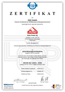 certificare rotofrank