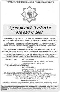 certificat tehnic
